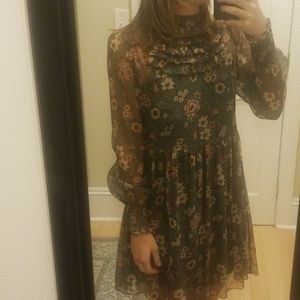 Zara Floral Mesh Dress